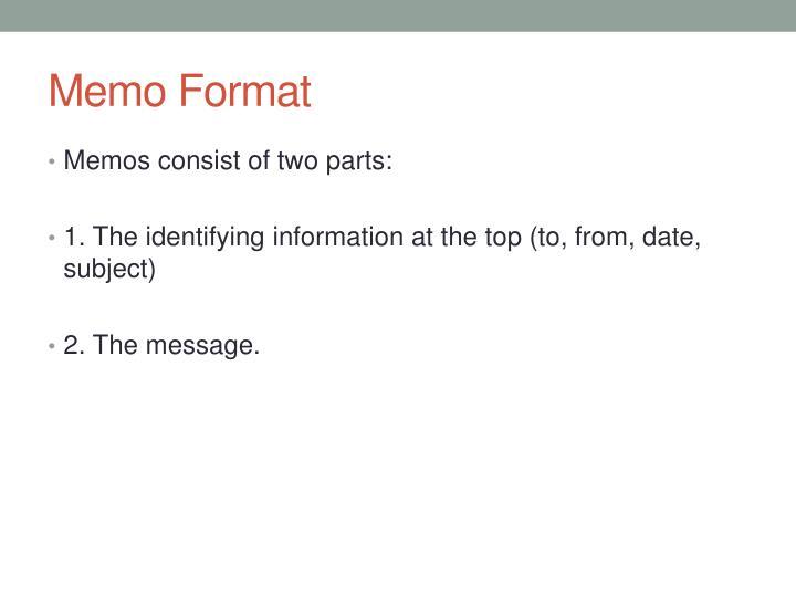 Memo Format
