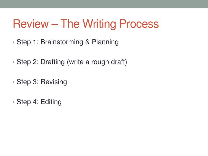 Review the writing process