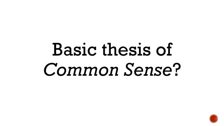 Basic thesis of