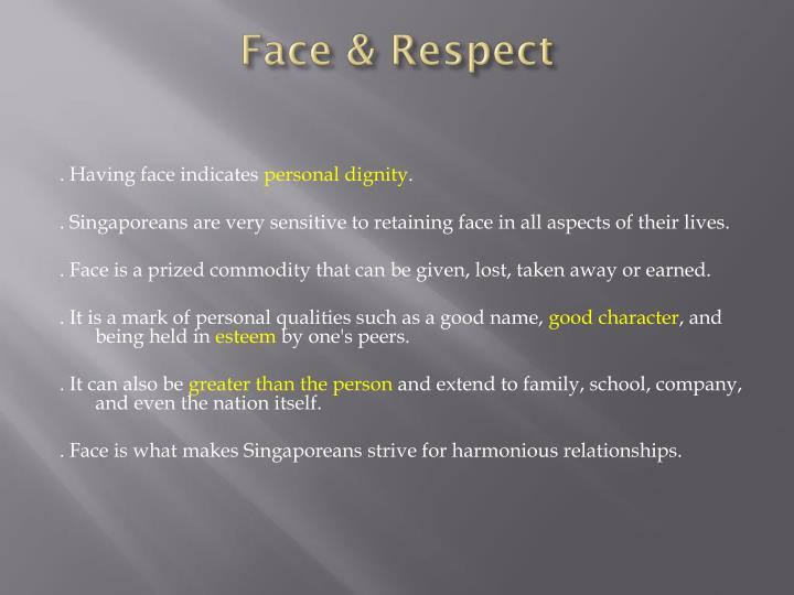 Face & Respect