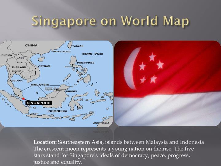 Singapore on World Map