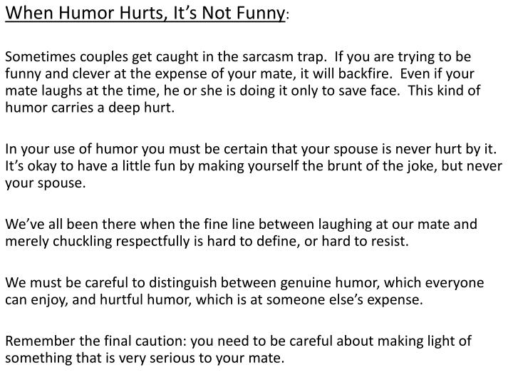When Humor Hurts, It's Not Funny