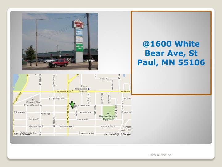 @1600 White Bear Ave, St Paul, MN 55106