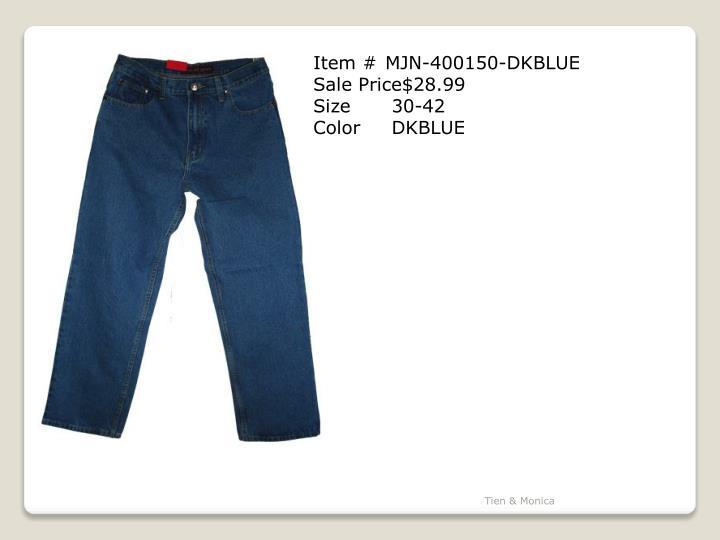 Item # MJN-400150-DKBLUE