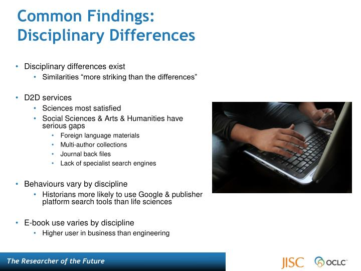 Common findings disciplinary differences