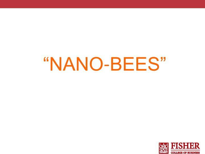 """""""NANO-BEES"""""""