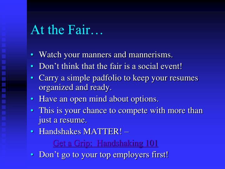 At the Fair…