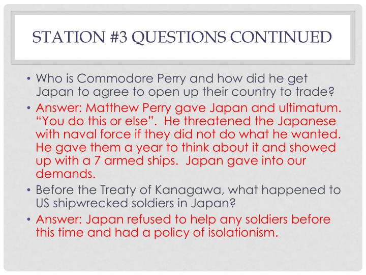 Station #3 Questions Continued