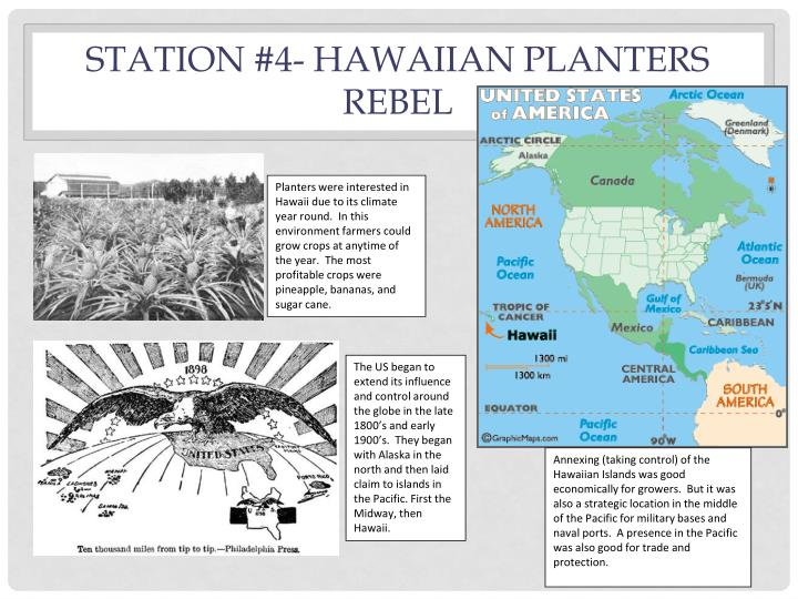 Station #4- Hawaiian planters rebel