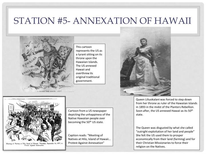 Station #5- Annexation of Hawaii