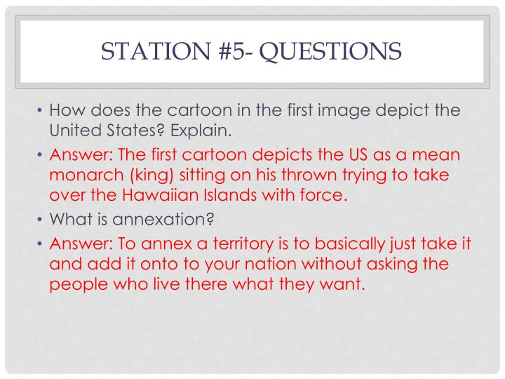 Station #5- Questions