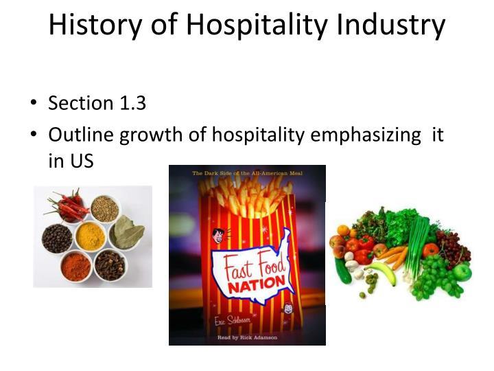 History of Hospitality Industry