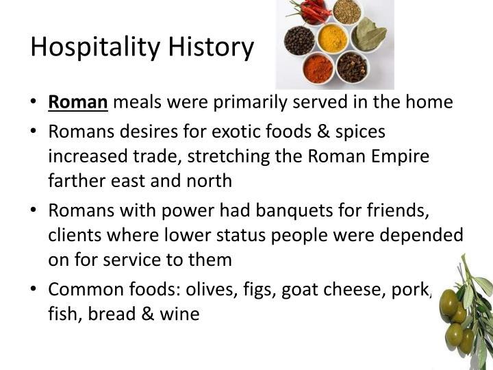 Hospitality History