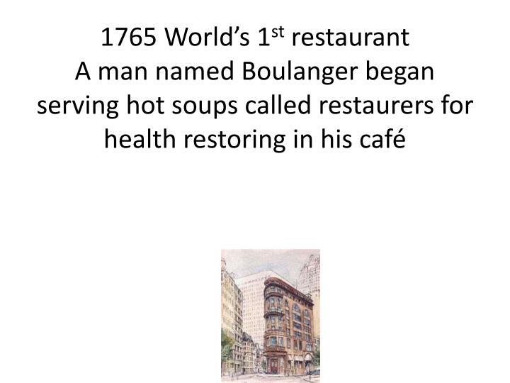 1765 World's 1