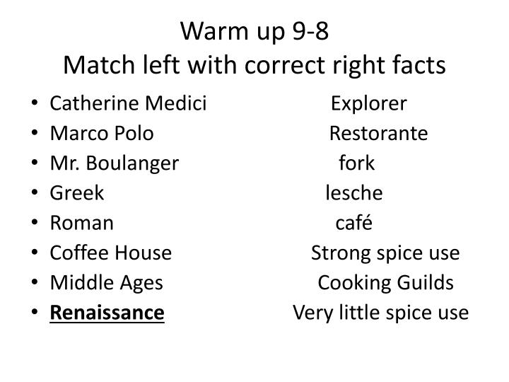 Warm up 9-8
