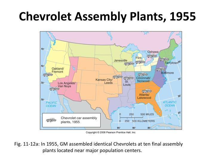 Chevrolet Assembly Plants, 1955