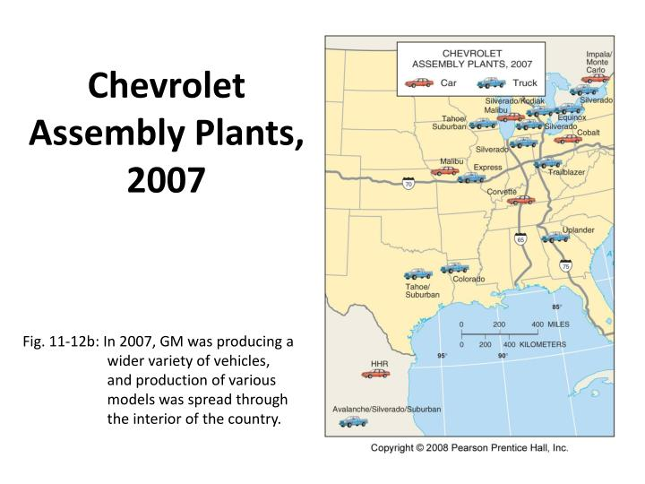 Chevrolet Assembly Plants, 2007