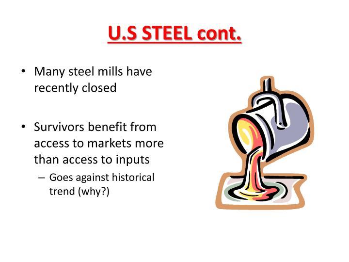 U.S STEEL cont.