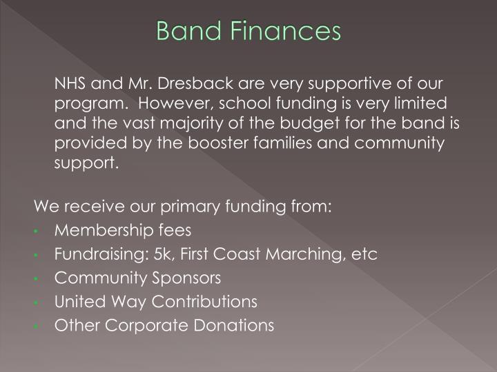 Band Finances