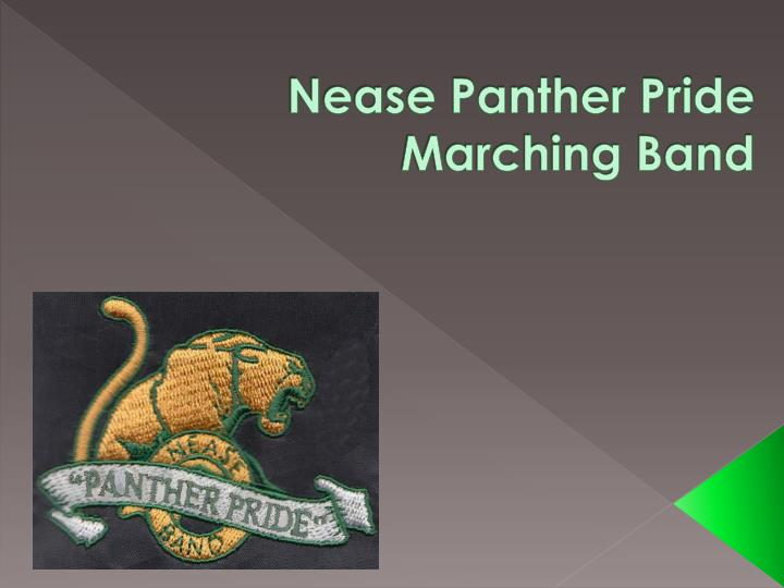 nease panther pride marching band