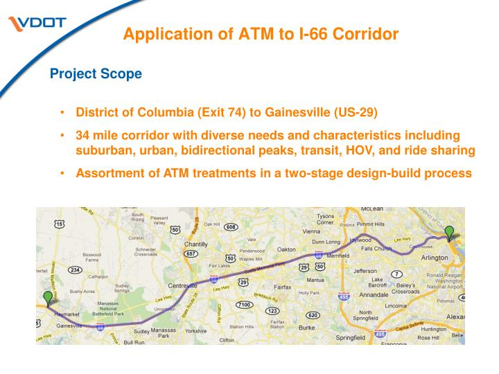 Application of ATM to I-66 Corridor