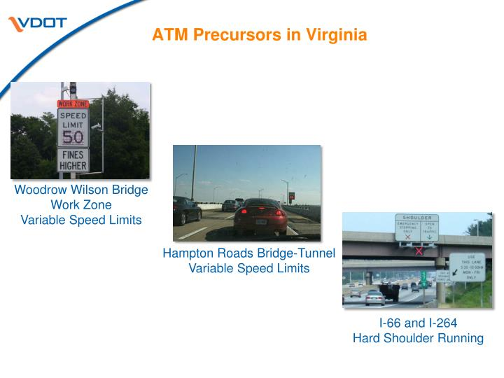 ATM Precursors in Virginia
