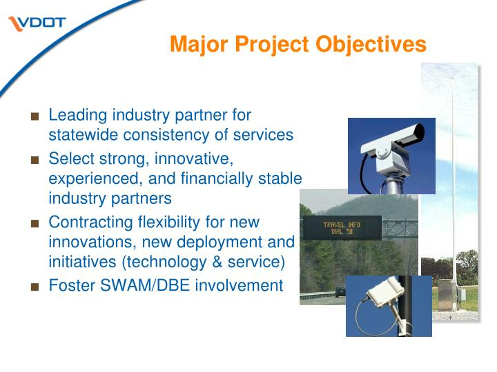 Major Project Objectives