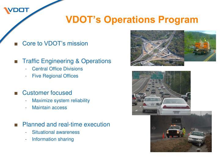 VDOT's Operations Program