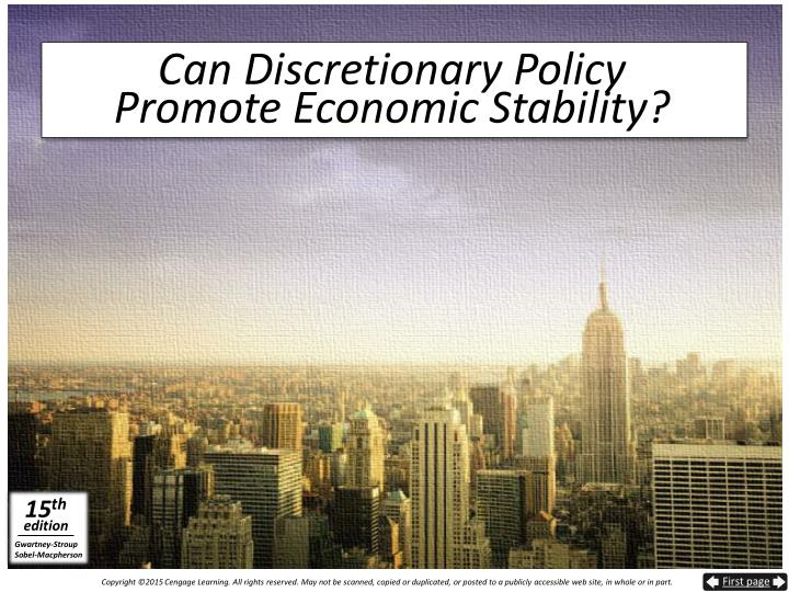 Can Discretionary Policy
