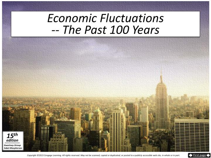 Economic fluctuations the past 100 years