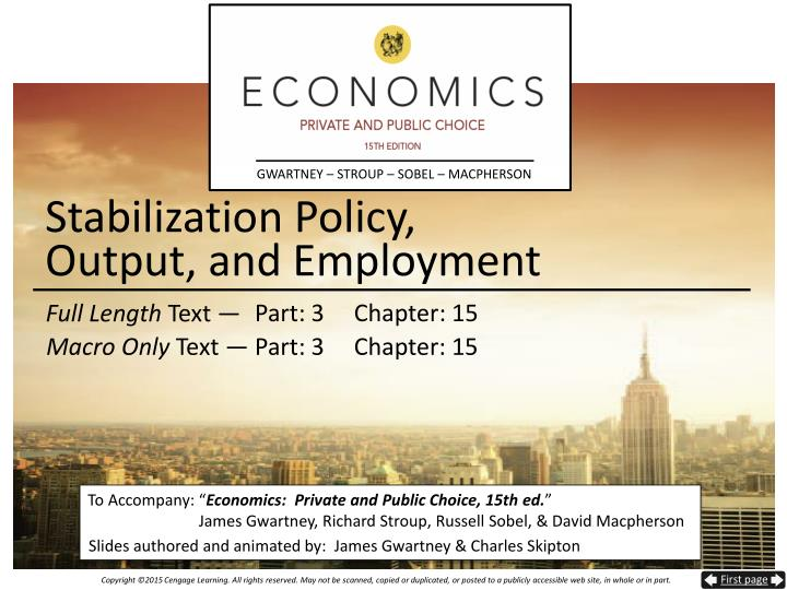 Stabilization policy output and employment
