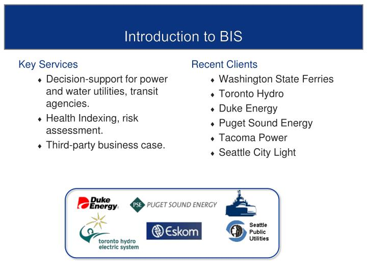 Introduction to bis