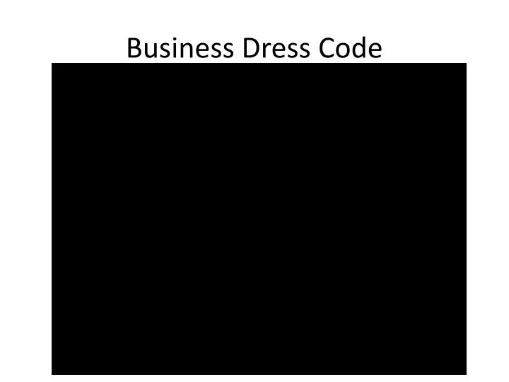 Business Dress Code