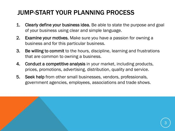 JUMP-START YOUR PLANNING PROCESS