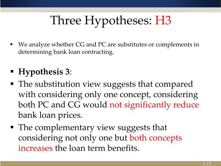 Three Hypotheses: