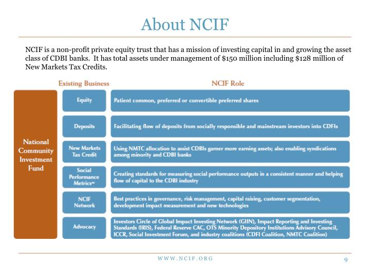 About NCIF