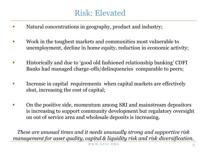 Risk: Elevated