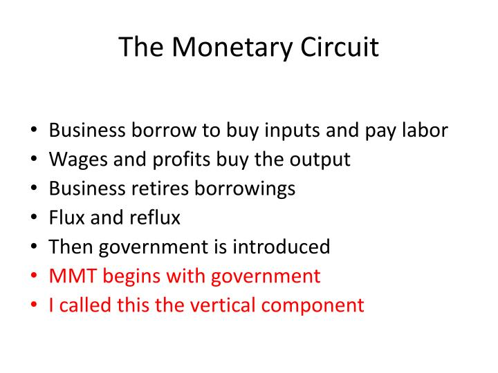 The Monetary Circuit