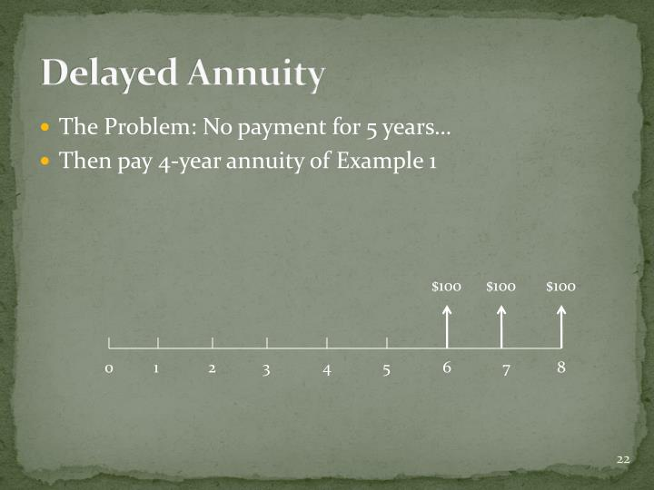 Delayed Annuity