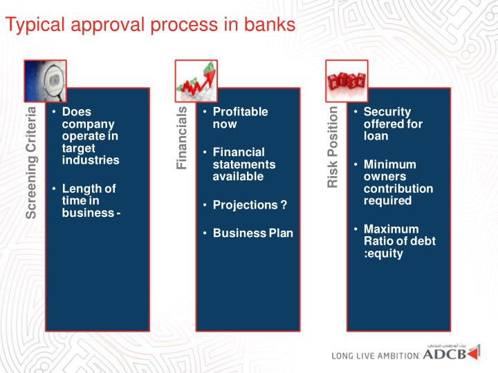 Typical approval process in banks
