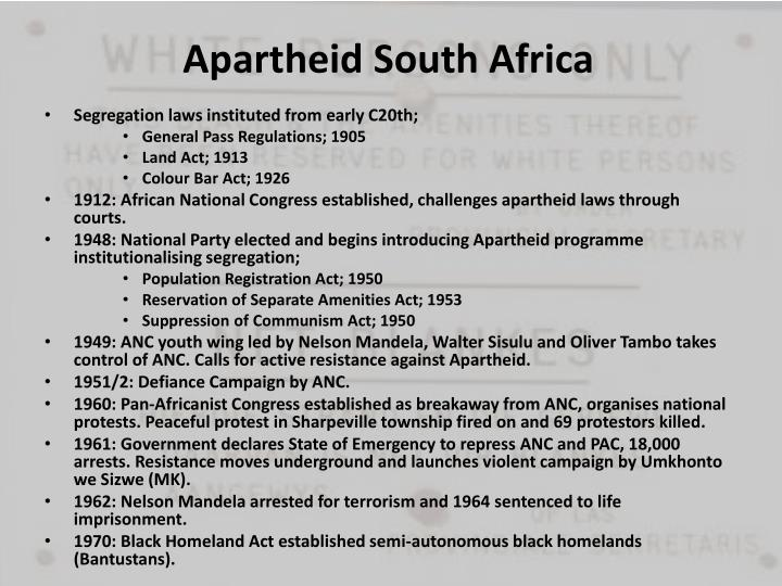 Apartheid south africa