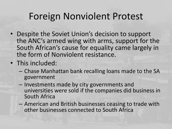 Foreign Nonviolent Protest