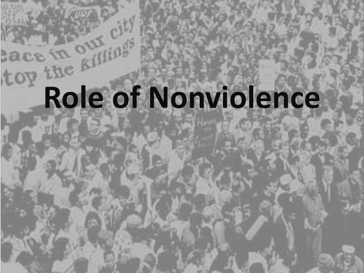 Role of Nonviolence