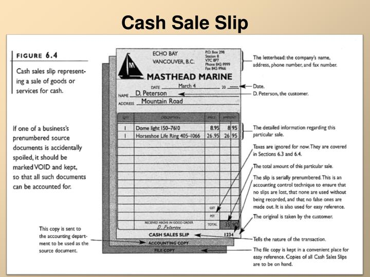 Cash Sale Slip