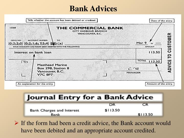 Bank Advices