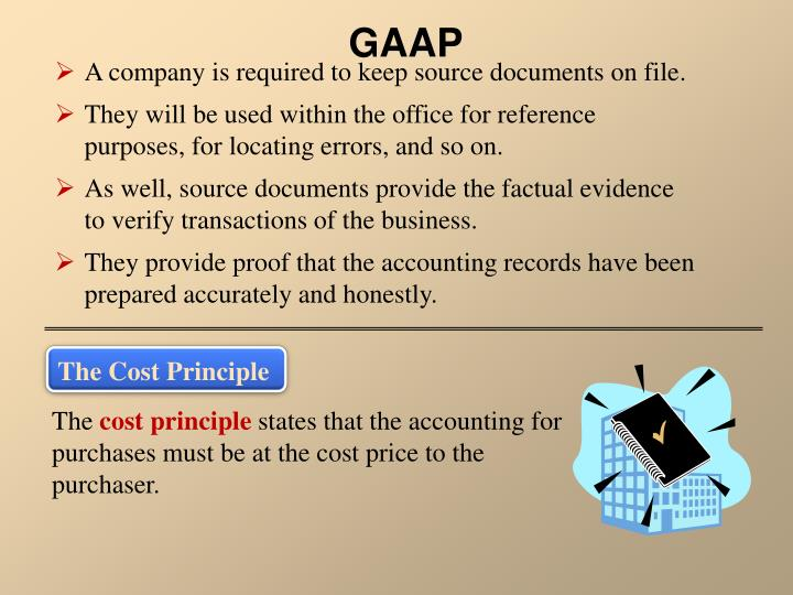 A company is required to keep source documents on file