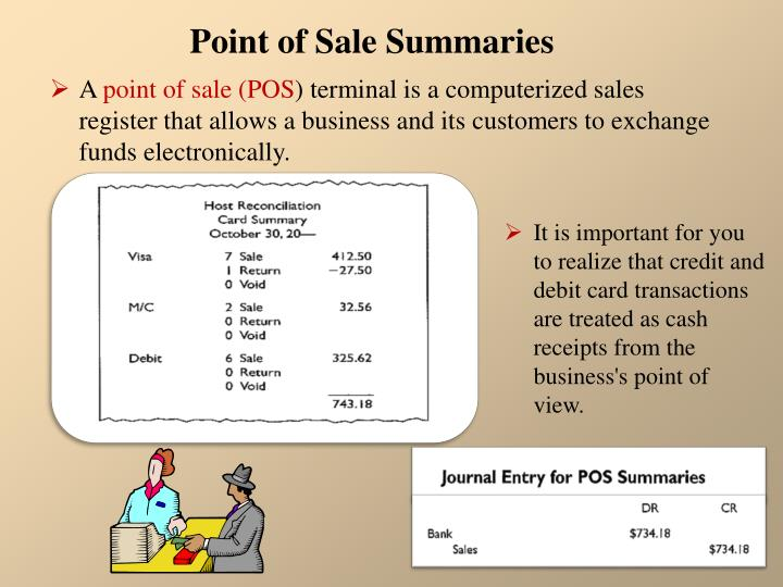 Point of Sale Summaries