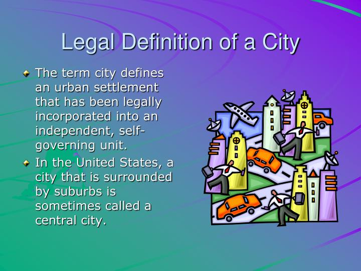 Legal Definition of a City