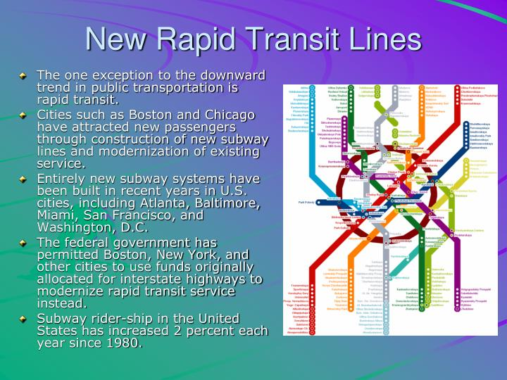 New Rapid Transit Lines