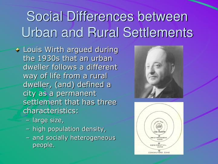 Social Differences between Urban and Rural Settlements